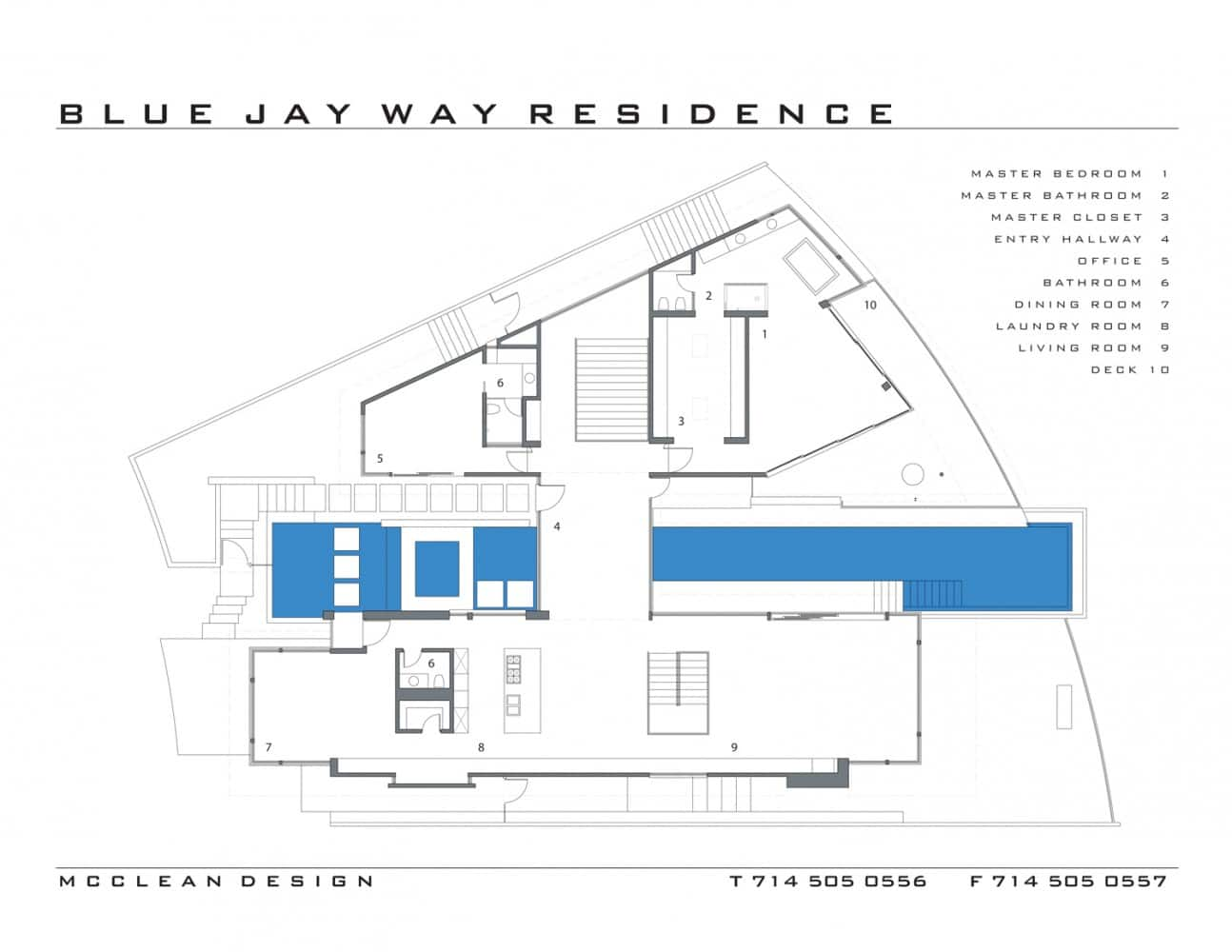maison blue jay way plan de l'étage