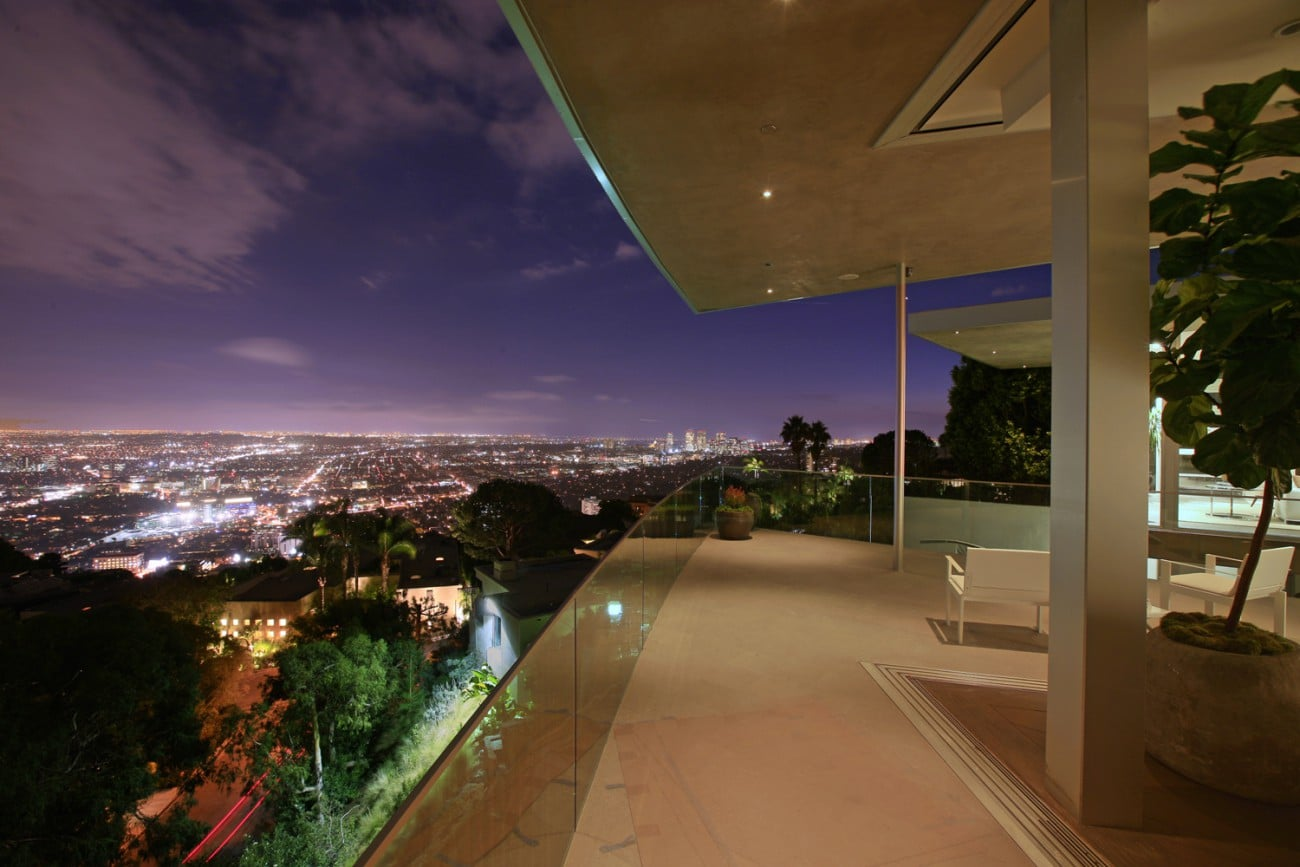 maison blue jay way vue sur los angeles