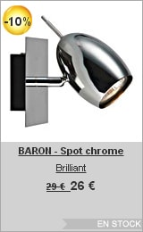 soldes lightonline-baron-spot-chrome