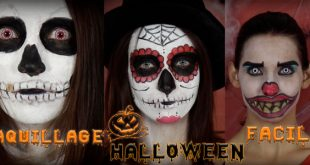 titre maquillage halloween facile