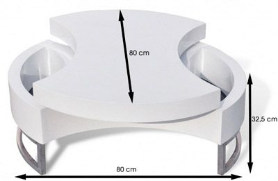 Coup de c ur table basse pivotante laqu e chez groupon for Groupon table basse